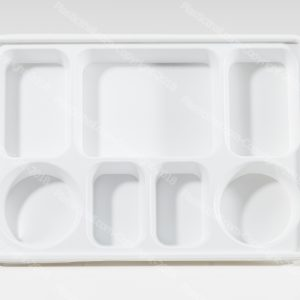 7 compartment disposable plastic plates 2  sc 1 st  PlasticThali & Silver 9 Compartment Plate - PlasticThali.com - Free shipping ...