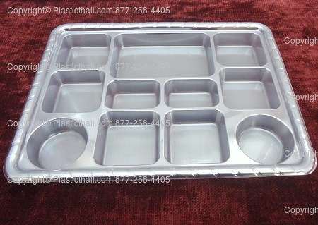 silver-eleven-Compartment-plate : paper plates with compartments - Pezcame.Com